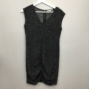 French Connection Black Gray Print Dress Sz 2